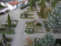 Kirkegården set fra nordvest - tårnfoto