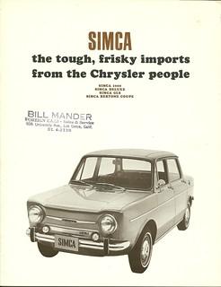 1967 Simca 1000 in USA