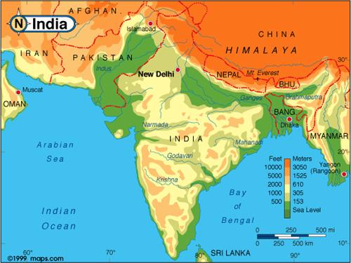 India_altitude_map