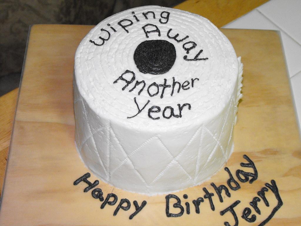 Outstanding Toilet Paper Birthday Cake Toilet Paper Birthday Cake Flickr Personalised Birthday Cards Paralily Jamesorg