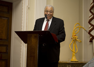 James Earl Jones speaks to the guests at Winfield House, London   by usembassylondon