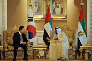 President Lee visiting the UAE, Dec. 2009