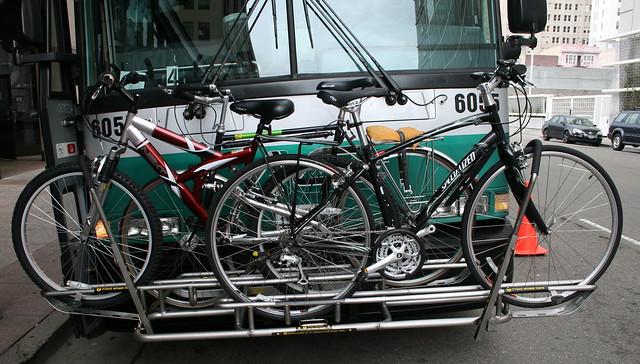 AC Transit's new 3 Position Bus Bike Rack -3