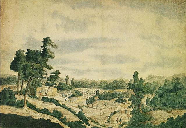 司馬江漢「広尾親父茶屋図」(1784)
