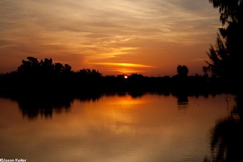 sky lake sunrise florida miami