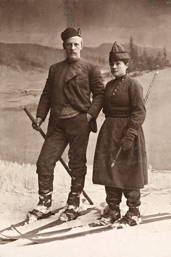 Portrett av Fridtjof og Eva Nansen, 1890