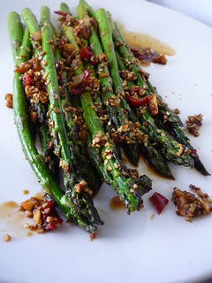 Asparagus with Chill, Garlic, Sesame Seeds, Ginger , Soy Sauce and Lime Juice | by Girl Interrupted Eating