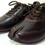 La Feet Tabi Sneakers/La Feet Anti HALLUX VALGUS Tabi Shoes Sneakers - Brown Leather 足袋型健康シューズ(Lafeet:レザー ブラウン) OKAMOTO-SEIKO 岡本製甲