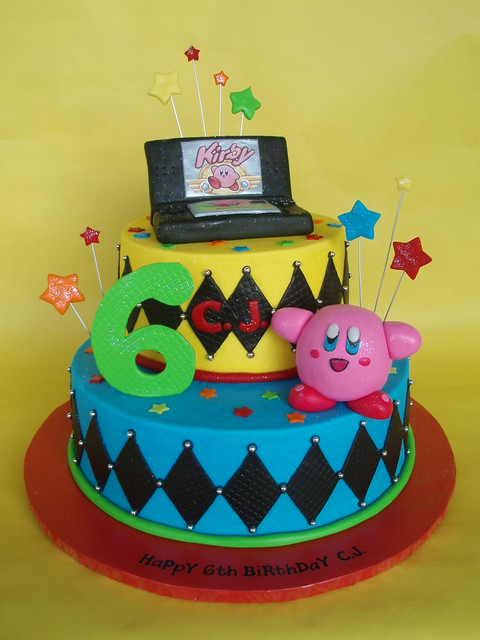 Nintendo DS - Kirby Themed Birthday Cake
