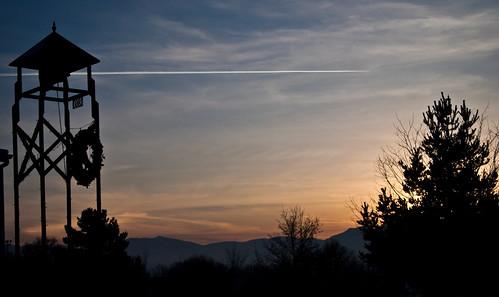 park winter sunset shadow sky tower silhouette utah dusk olympus ep1 digitalpen cachevalley millville