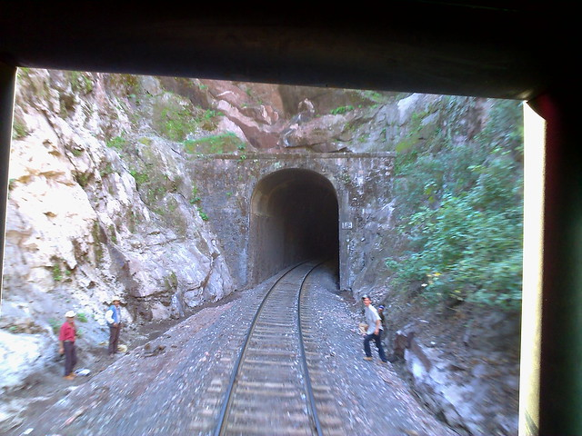 Tunnel behind us