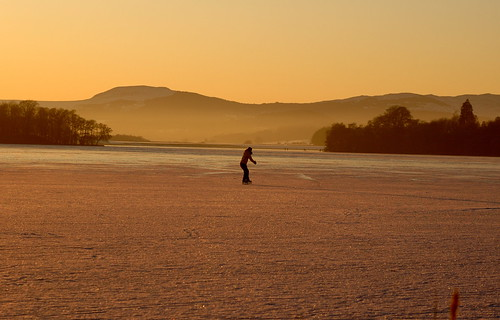 Skater on the lake