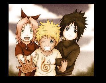naruto,sasuke and sakura when they child   naruto_fox9tail