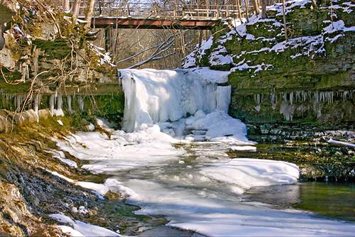 waterfall antiochcollege birchcreek icywaterfalls glenhelennaturepreserve ohiowaterfalls snowywaterfalls
