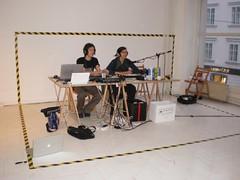 Marko Trstenjak in Helena Božič (L-R)-2   by radioCona / Cona Institute For Contemporary Arts
