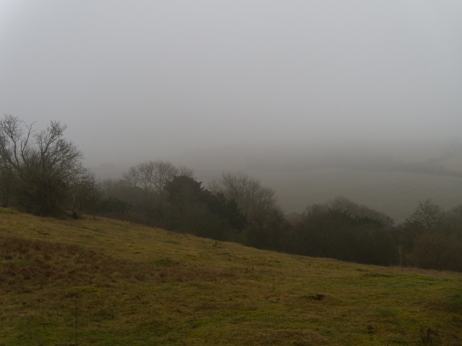 Mist from the ridge Saunderton Circular via Bledlow