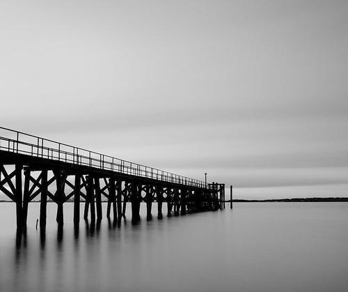 ocean longexposure blackandwhite bw pier dock massachusetts atlantic wharf nd swampscott density neutral d300 10stop nd10 2470mmf28g nikonjim