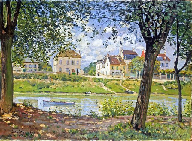 Alfred Sisley: Villeneuve-la-Garenne (1872)