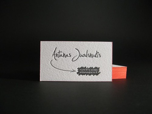 Business cards with painted edge | by ElegantePress
