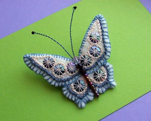 butterfly brooch | by Erratic Needle