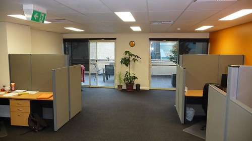 Photo of roller blinds in an office