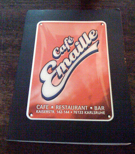 Speisekarte - Café Emaille   by JaBB