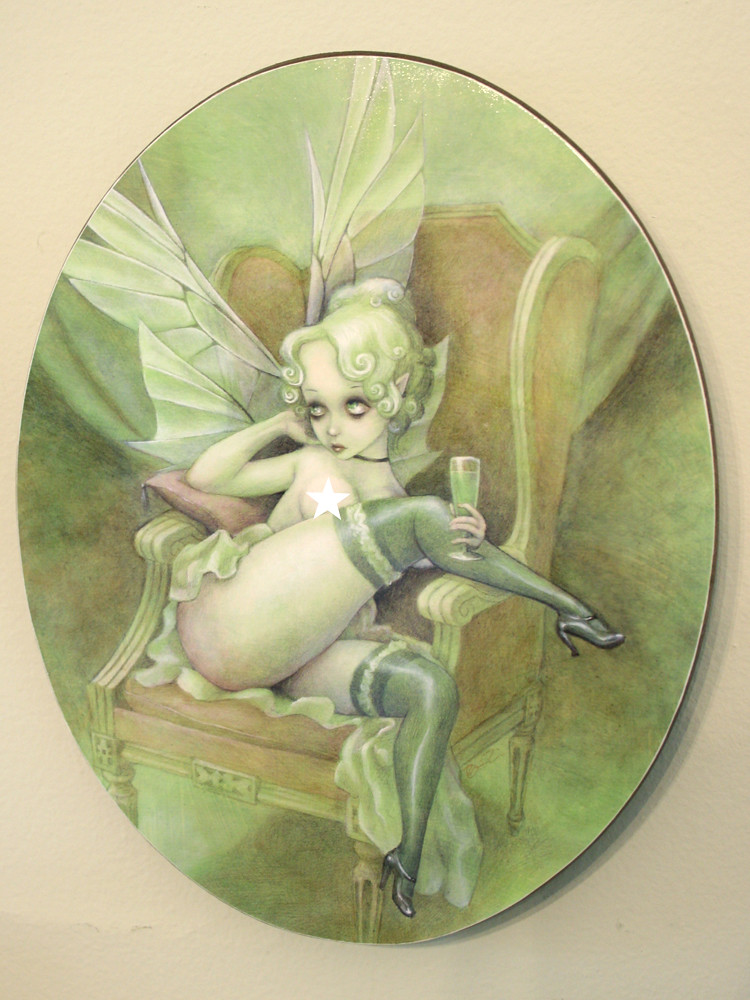 Absinthe Fairy Plaque The Prints Are Of My Original Acryli Flickr