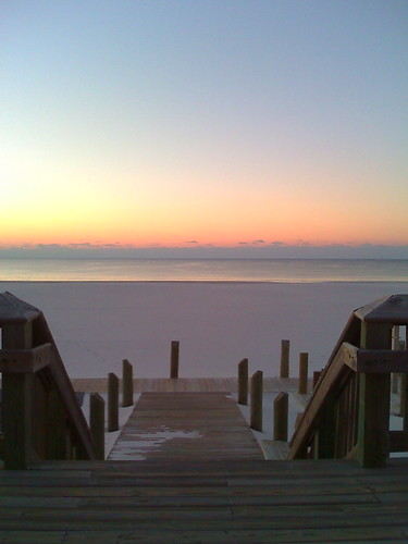 beach nature sunrise