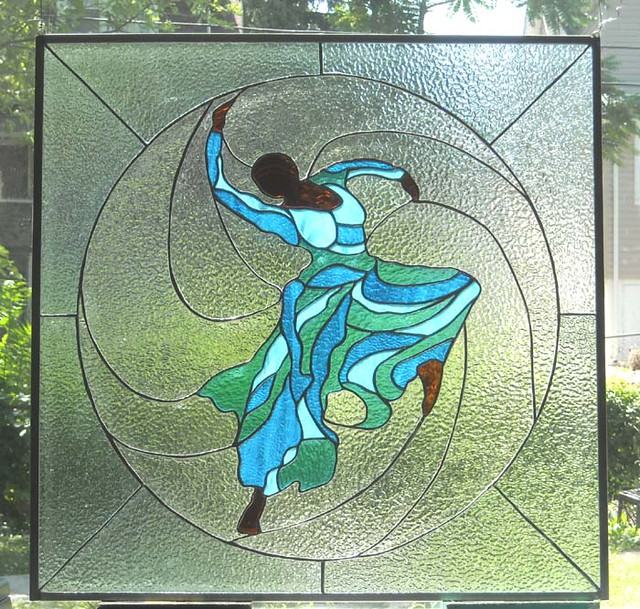 Judith Jamison Stained Glass Panel