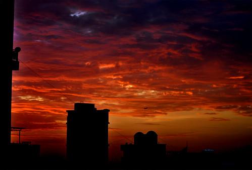 sunset red sky orange storm rain clouds 50mm after d5000 antopix