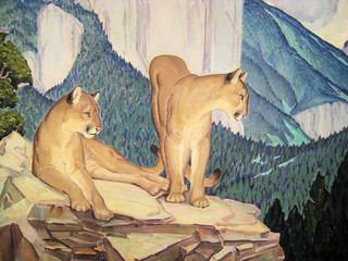Mountain Lions - 1934 New Deal Painting at Smithsonian American Art Museum