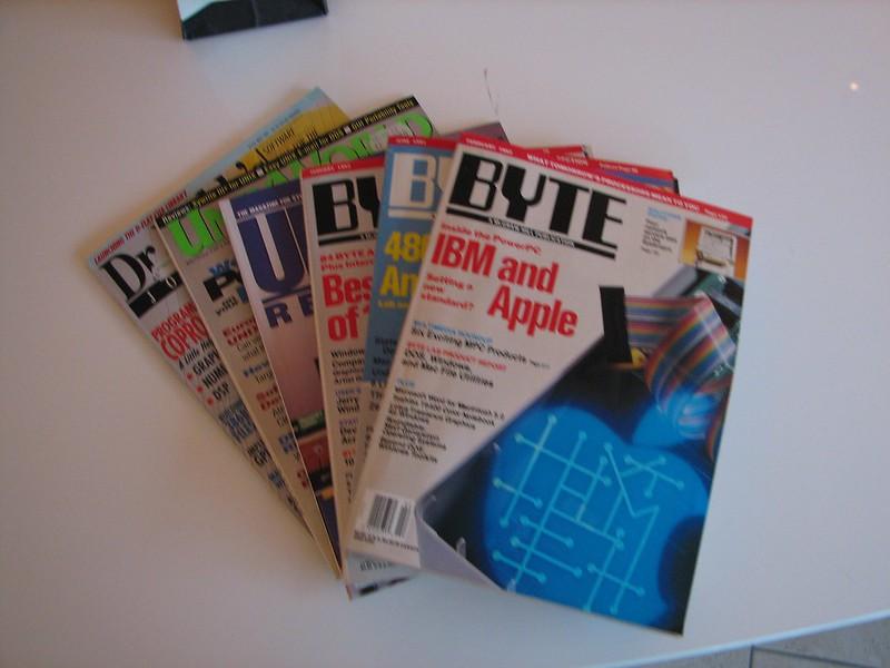 Set of old magazines