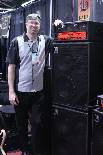 Roger Baer showing his new line of amps | by Bass Player Magazine
