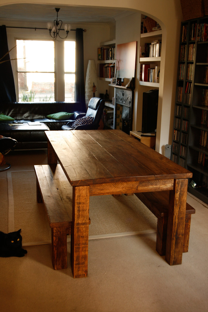 Angled full view :: New farmhouse table #14