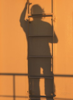 Shadow Climbing the Ladder at Sunset | by S@ilor