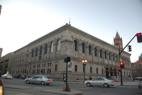 Boston Public Library's McKim Building seen from the southeast by Copley Square   by Chris Devers
