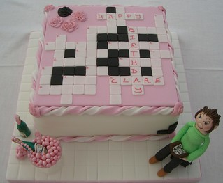 Crossword Cake A Crossword Cake For A Lady S Fortieth