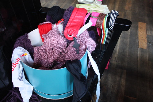 scarves, belts and bobs in a bucket | by quite peculiar