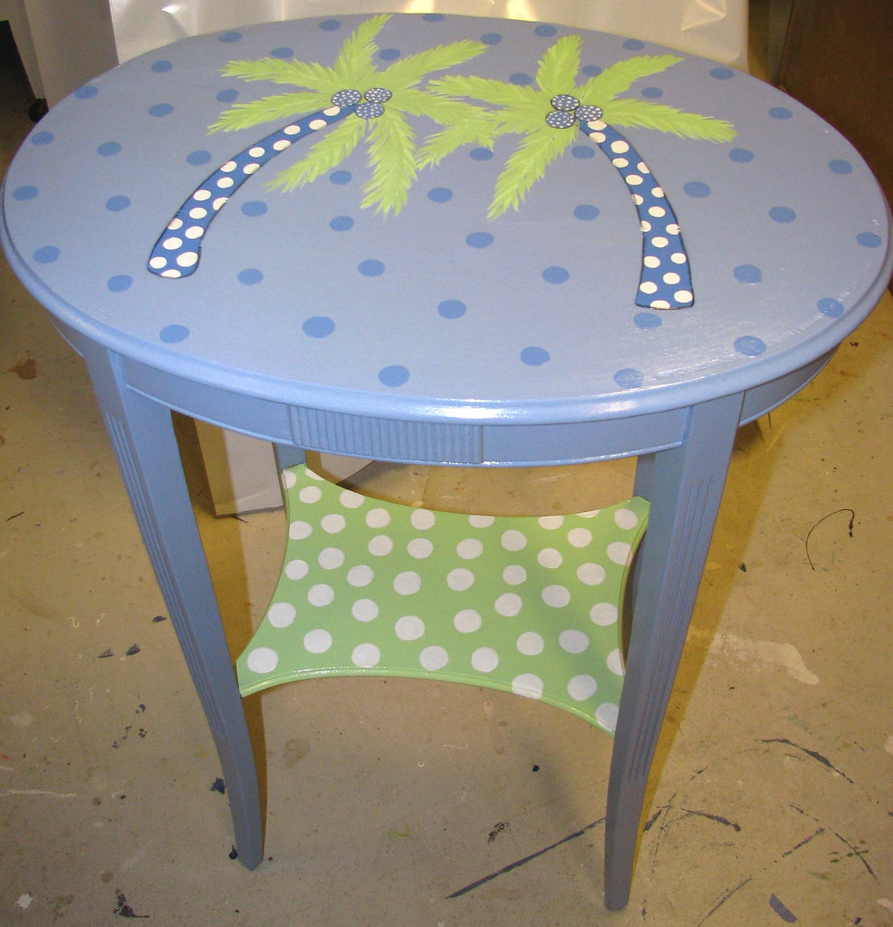 Petite oval side table
