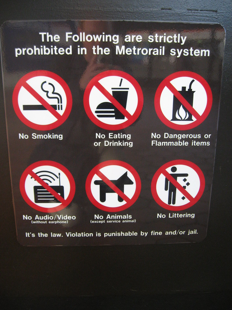 Metro Prohibited Items