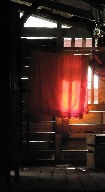 monk's quarters in Laos