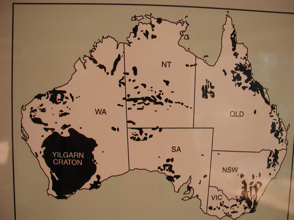 Yilgarn Craton WA map sign | See some research on the West A