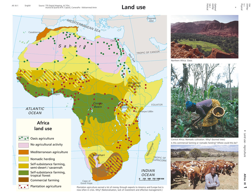 Africa Land use map | sample large screen presentation | Visual
