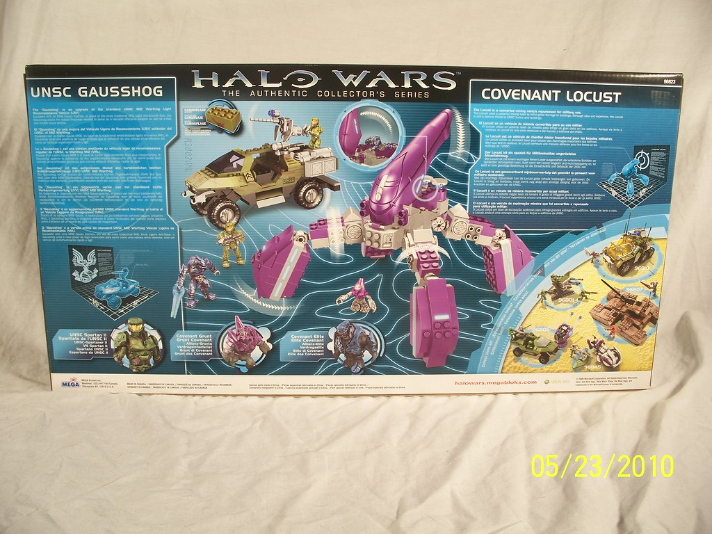 Covenant Locust Mega Bloks Halo Wars UNSC Gausshog vs