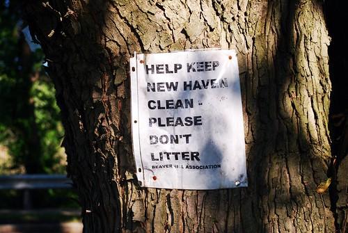 litter-sign