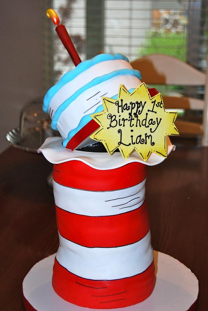 Prime Dr Seuss First Birthday Cake Elisha Shibuya Flickr Funny Birthday Cards Online Overcheapnameinfo
