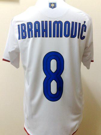 wholesale dealer 6564b 75087 Inter Milan Centenary Away 07/08 Detail with #8 IBRAHIMOVI ...