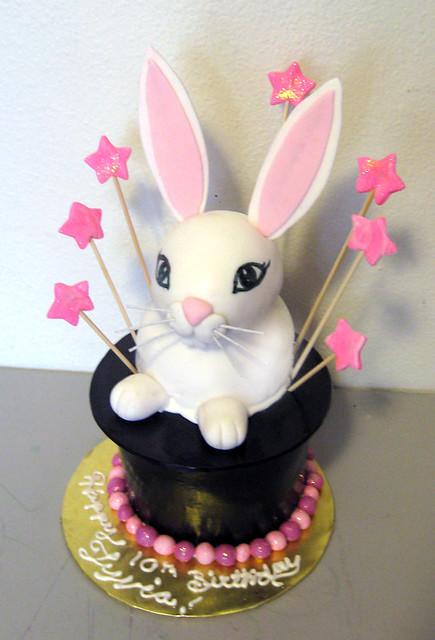 ArtisanCakeCompany Rabbit In The Hat Birthday Cake