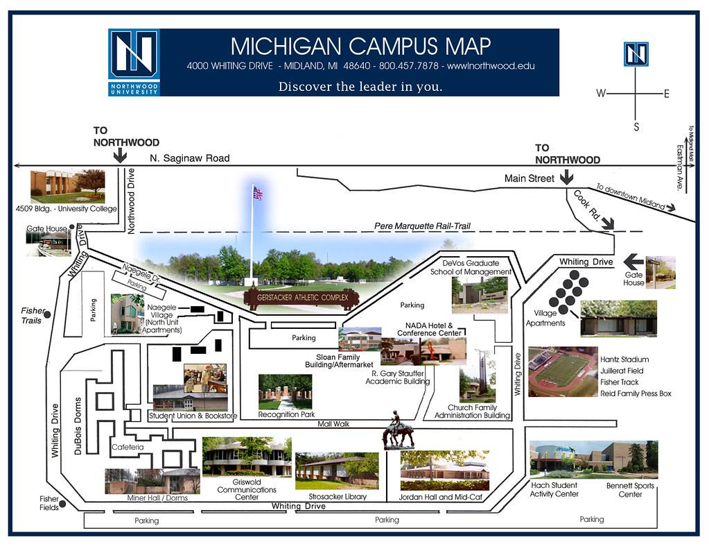 northwood university campus map Campus Map Northwood University Flickr northwood university campus map