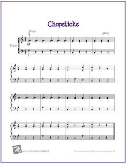 Chopsticks Beginner Piano Sheet Music Pdf Chopsticks